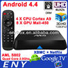 OEM amlogic s802 2.0ghz ultra hd 4k 3d blu-ray player quad core amlogic mx android tv box