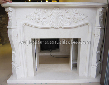 Modern style home interior decoration pure white plaster for Cheminee shabby chic