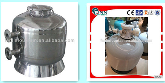 Quartz Sand Filter : Swimming pool water treatment industrial used quartz sand