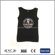 Plain white logo printed OEM promotional boys tank top