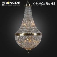 crystal light french style chandeliers for restaurant decoration