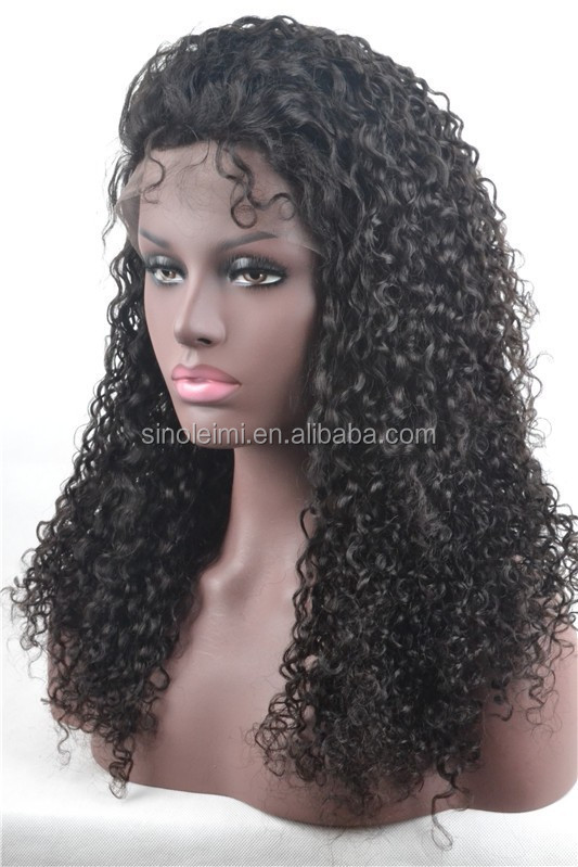 unprocessed brazilian virgin human hair natural color150% denisty kinky curl full lace wigs with natural hairline and baby hair