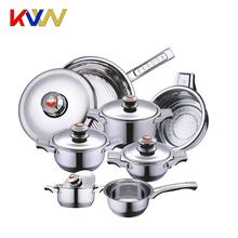 China factory high quality german style premier stainless steel cookware sets brands