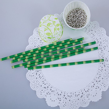 Natural bamboo design paper drinking straw 6.0*197 mm