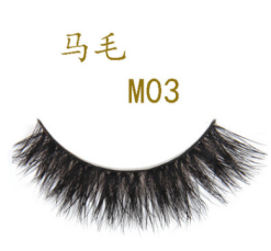 Wholesale Mink Fake Eyelashes Blue Box Eyelash Horse Hair Eyelashes Private Label
