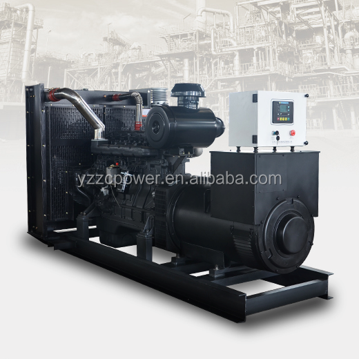 400kw diesel industrial generator 500kva genset Soundproof electricity power with shangchai Dongfeng