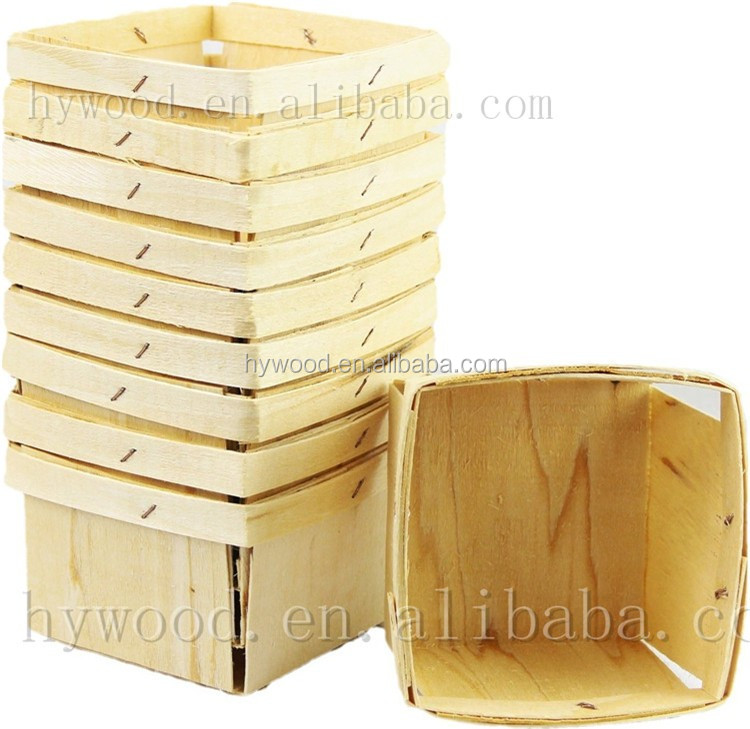 cheap chip picnic strawberry berry fruit apple wood disposable basket wholesale