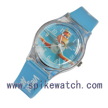 Promotional gift young boys and girls cheap fancy plastic watches for child