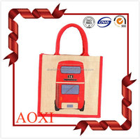 Wholesale 100% advertising promotional tote custom jute bag