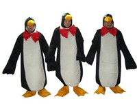 3 Penguin Face Out Mascot Costume