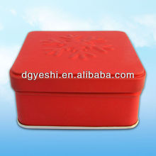 Red gift tin boxes