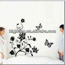 Fashion Design Anti-water Vinyl Decal Black Butterfly