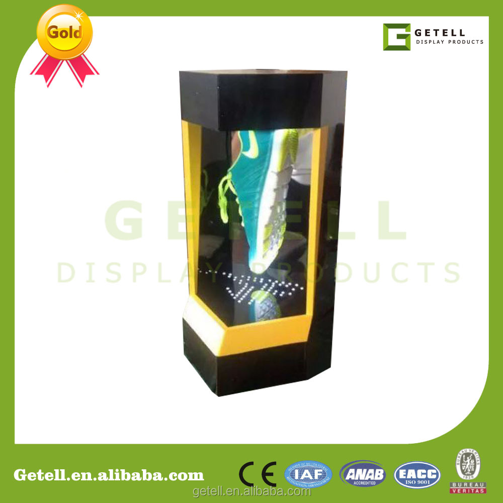 New,cool levitating display rack,magnetic display stand,LED lights shoe display