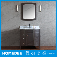 "American Style 36"" Free Standing Modern Type Cheap Single Bathroom Vanity Cabinets"