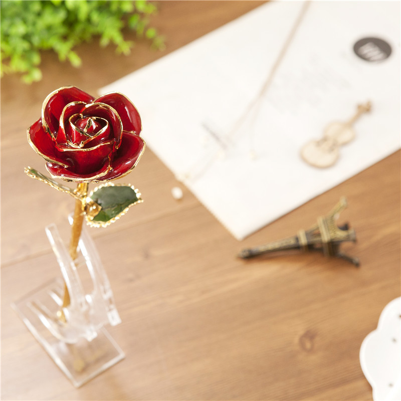 Gold Dipped Rose 24k Gold Rose with Gift Package For Valentine's Day