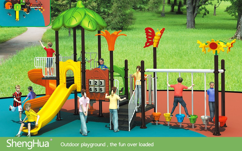 2013 Plastic Children outdoor playground with Long Tunnel Slides Type Outdoor Playground