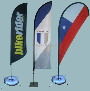 Outdoor High Quality Polyester Beach Flag Custom Feather Flag For Exhibition