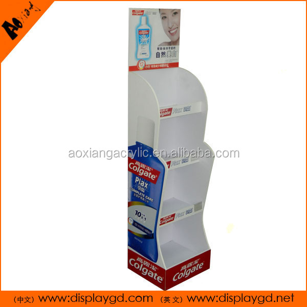With Hooks Supermarket Stands MDF Toothbrush Display holder