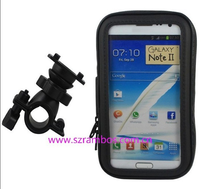 Waterproof Cycle Bike Protective Touch Phone Case Fully Rain Outdoor Equipment 5.5 Inch for Samsung Galaxy Note 2 II N7100