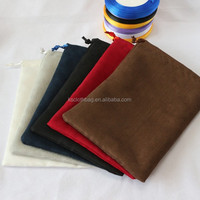 advertising drawstring gift bag suede velvet pouch welcoming custom company logos factory price