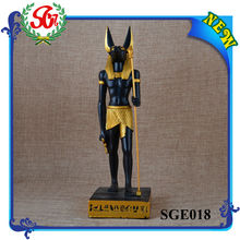 SGE018 Egyptian God Anubis Deity Jackal Statue Sculpture