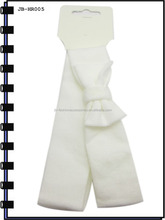 4.5cm White Polyester Headband With Bow In Student Style