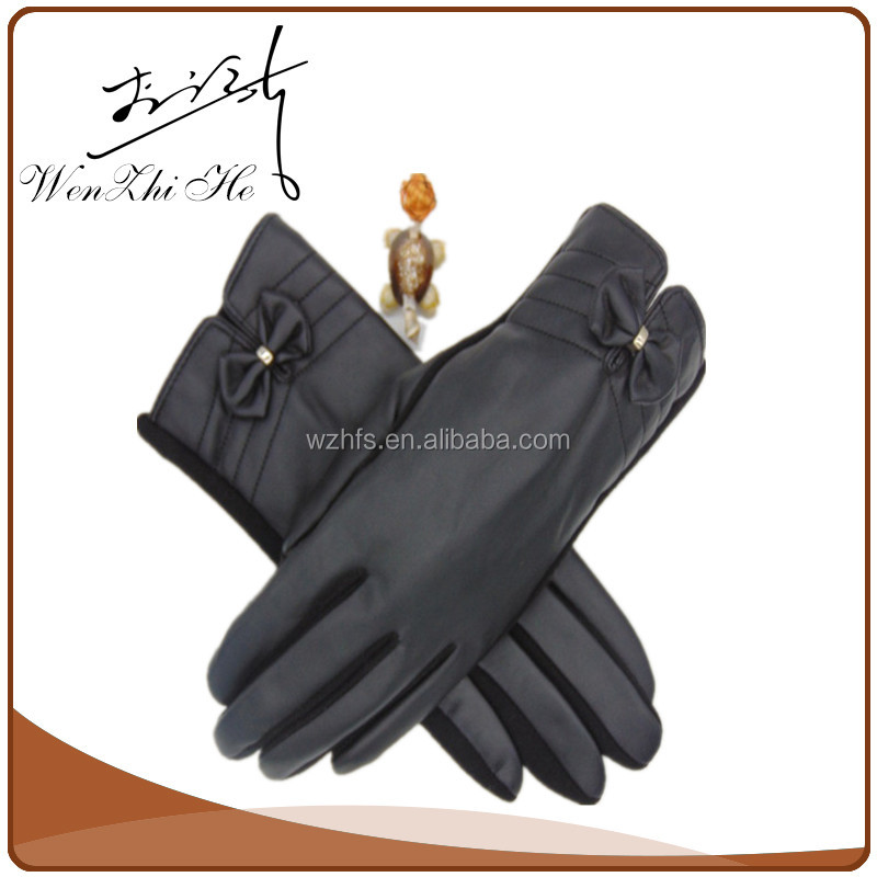 Touch Screen PU Coated Thin Winter Mittens For Adults