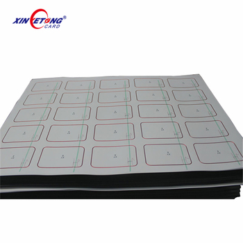 Wholesale Manufacture Price A4 size PVC plastic inlay sheet 125khz em proximity Smart blank pvc card Rfid