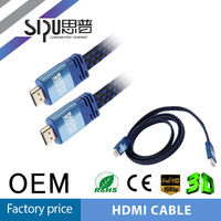 SIPU high quality mhl cable hdmi 1.4 cable metal