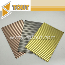Gold color etched bright stainless steel sheet