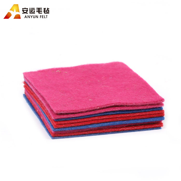factory wholesale super soft colors craft 3mm wool felt