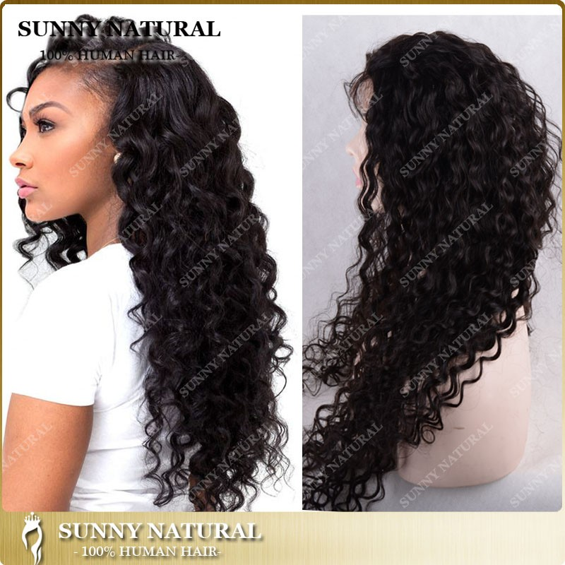 overnight delivery lace wigs brazilian full lace wigs deep curly lace front human hair wigs free parting water wave