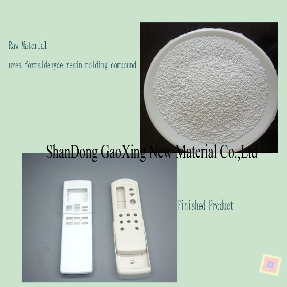 GUHENG White Melamine Urea Molding Compound Granule to make knob, electrical appliances, mahjong