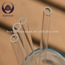 clear borosilicate straight drinking glasses straw
