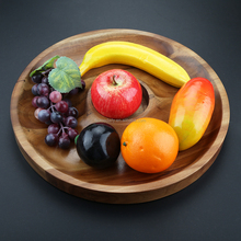 Wood Serving Plate Tray Acacia Wood Plate for Fruits Cakes Desserts Candy Buffet Stand for Wedding &Home&Party