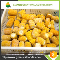 Bulk package frozen corn cob kernels Hebei origin