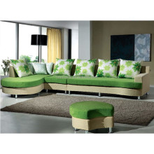 2015 latest modern fabric recliner sofa / green corner bench sofa seating /