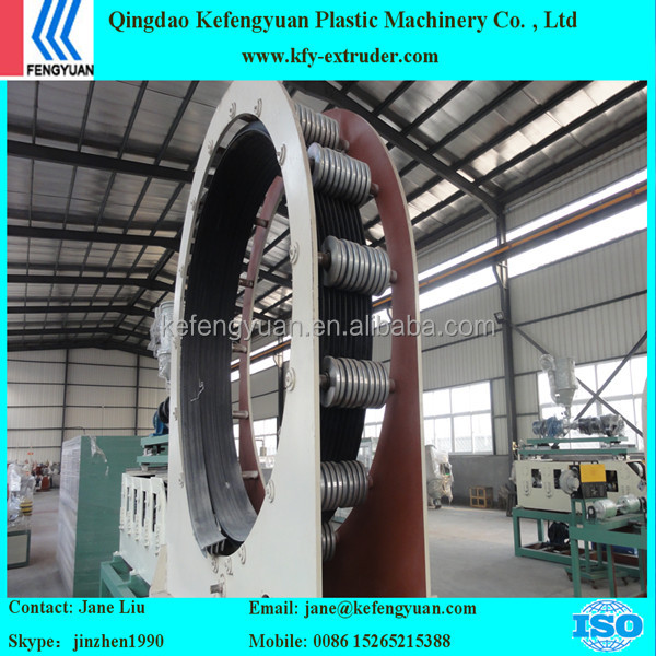 2015 Hot Sale HDPE Steel Reinforced Wound Winding Pipe Extrusion Line/HDPE Metal reinforced pipe production line