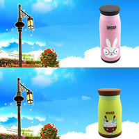 New Arrival Cute Beautiful Colorful Cartoon Animal Stainless Steel Vacuum Flasks Thermoses Insulated Mug 260ml Warm Water Cup