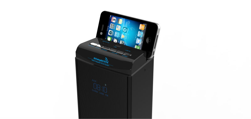 CE ROSH approved bluetooth tower speaker with LED display