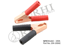 High quality with pvc Insulators alligator clip/ Copper battery clip