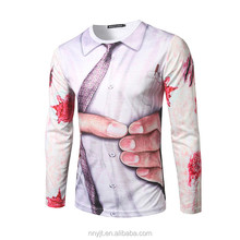 Cool <strong>Design</strong> 3D Printing Long Sleeve Men T-shirt