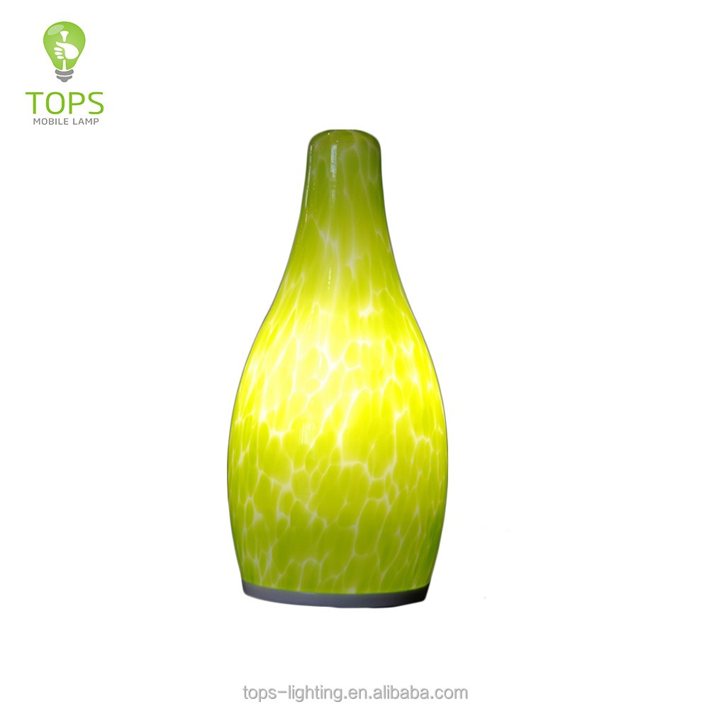 Fine workmanship small bottle shape green led decorative serial lights