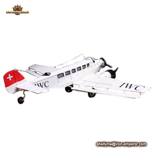 Wholesale metal crafts decorative airplane model for home decor