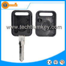 Cheaper price plastic car key blank with logo letter on the case for vw jetta transponder replacement key shell