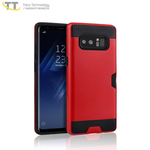 New tpu pc mobile back phone case cover for samsung galaxy note 8 case thin hard cover red
