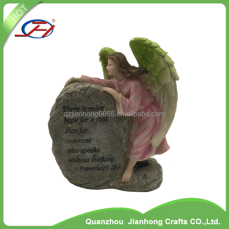 polyresin angel figurine ornaments craft small garden resin fairy