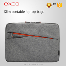 EXCO embossed logo polyester lining waterproof designer latest laptop sleeve for MacBook 13''