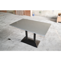 stylish modified acrylic sheets table top, artificial marble long dining table for 4 people seat