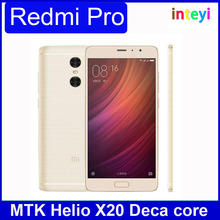 Original Xiaomi Redmi Pro Mobile Phone Full Netcom 2.0 Helio X25 / X20 Two Back Camera 13MP+5MP 5.5'' inch 3GB RAM+32GB ROM